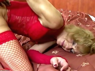 Granny Hairy Cootchie Getting Booty-fucked By Big Black Manhood