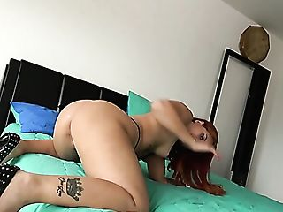 Lucky Bald Headed Stud Is Glad To Pound Yummy Vag Of Bootyful Ms...