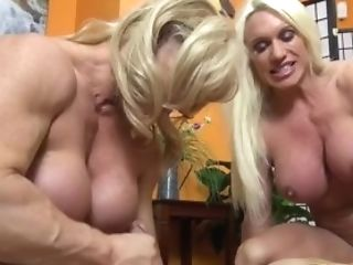 Naked Female Bodybuilders Bang-out Up Lucky Dude