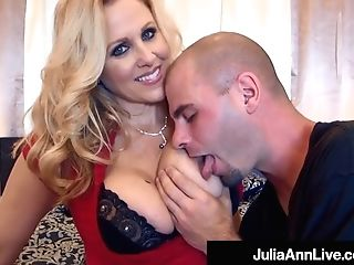 Buxomy Hot Cougar Julia Ann Bangs Two Hard Rock Rods!