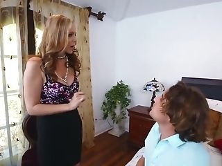 Ultra-kinky Stepson Fucked Her Big Juggs Stepmom And Nubile Maid
