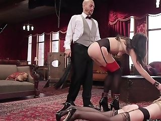 Master Whips And Assfuck Fucks Two Marionettes