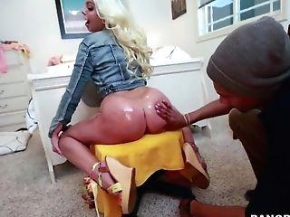 Britney Amber's Big Backside - Hot Interracial Intercourse