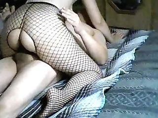 My Gf On Top !! Cowgirl !! Making Me Jizm !! #fishnet