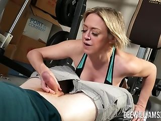 Rough Orgy At The Gym Is All About Horny Blonde Dee Williams Talking
