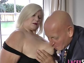 Matures Blonde Grand-ma Get Booty-fucked