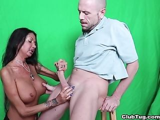 Black-haired Matures Nadia Night With Big Faux Tits Jerking Off A...