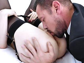 Elegant Blonde Likes The Sense Of Dick Into Her Butt Fuckhole