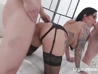 Dirty Mummy In Black Stockings And High High-heeled Shoes, Lily...