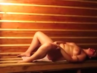 Matures Woman Masturbates In The Sauna