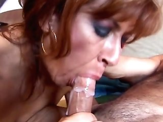 Cum eating job blow