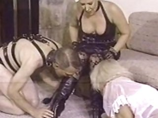 Three Stunners And One Stud Have Some Super-naughty Domination...