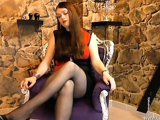 Joi German Cougar Pantyhose High High-heeled Shoes Fem Dom