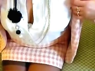 Cougar's Seamed Stocking Gams At The Motel