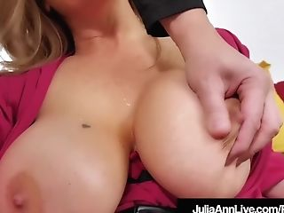 Dirty Talking Cougar Julia Ann Strokes & Deep Throats Prick...