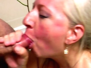 Old Mom Takes Youthfull Dick In Bathroom