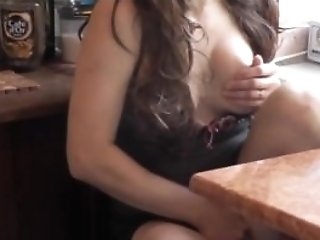 After Kitchen Naked Cooking Wifey Was Caught Masturbating With Cup...