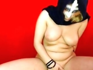 Muslim Woman In Hijab Pisses In Bucket