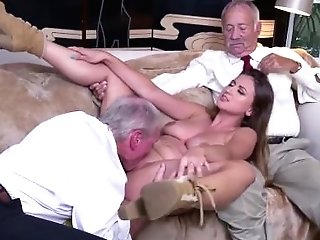 Nubile Old Outdoor Duo Ivy Amazes With