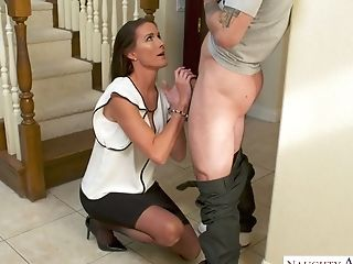 Dawn To Fuck Cougar Sofie Marie Gets Into Dude's Pants And...