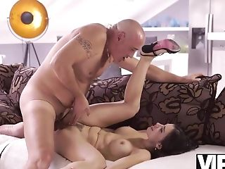 Vip4k. Bald Fantastic Dad Has Powerful Beef Whistle For Huge-boobed...
