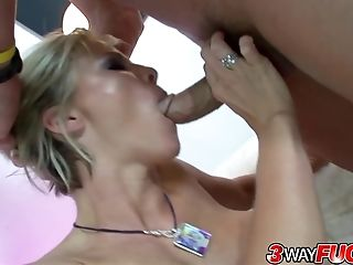 Three Way Fuck - Blonde Cougar Kayla Synz
