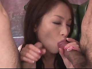 Sweet Mei Naomi Concludes Massive Trio With Jizz On Face - More At...