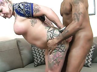 Tattoo son booty nail and cumshot