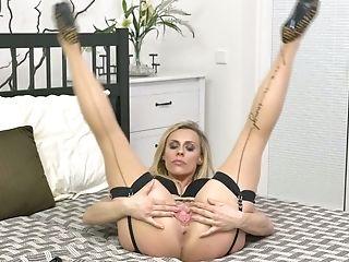 Sluttishly Looking Blonde Brittany Bardot Is Masturbating Her Nice...