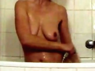 Hidden Spy Web Cam On Two German Amorous Matures In The Douche....