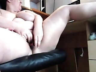 First-timer Bbw Matures Playthings While Watching Pornography