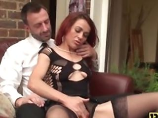 Old Tasty Bitch Has Rough Fuck Session With A Weird Stud