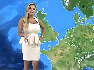 Supah Juggy Anchorwoman Katie T Strips And Shows Off Her Large...