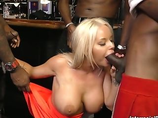 Towheaded Hotty Rachele Richey Is Fucked By A Few Black Dudes At...
