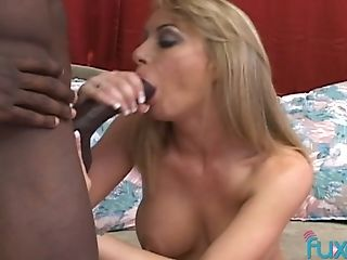 Horny Big Black Cock Fucks Whorish Milky Chick And Cums On Her Face