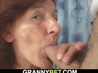 Clothed Granny Loves Sucking And Railing His Dick