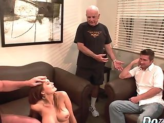 Cheating Hubby Witnesses Wifey Allison Moore Bouncing On A Spear