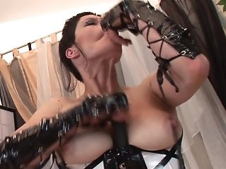 Non-traditional Matures Honey Isabela Has Joy With A Big...