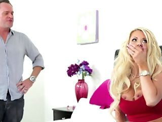 Schlong Greedy Blonde Mom Needs Two Stiffys For Her Satisfaction
