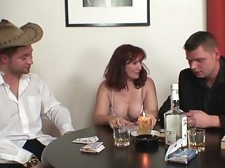 Undress Poker Leads To Threesome With Hot...
