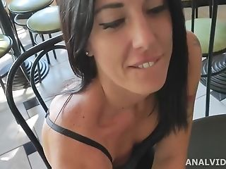 Italian Bitches, Sabrina Ice Drinks Urinate And Gets Banged In The...