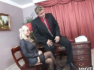 Hungarian Blonde Office Whore Helena Sweet Gets Analfucked After...