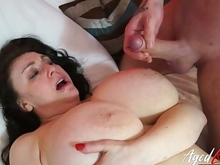 Astounding Bosomy Whore Sabrina Gets Her Matures Cunt Fucked...