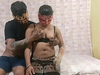 Indian Desi Bhabhi With Her Hubby In Risky Indoor Bedroom...
