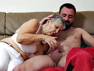 Chesty Granny Savannah Makes Love With Junior Dude