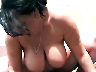 Onmilfcom Chubby Brown-haired Mom Outdoors By