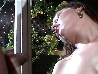 Gorgeous Brown-haired Gives Black Stud A Tugjob In Building At Night