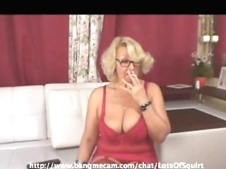 Huge-titted Pervy Granny Smoking A Ciggie