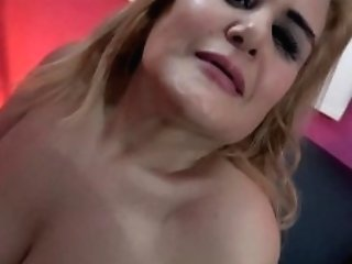 Cougar With Big Natural Bra-stuffers Hot Dance For Valentine's...