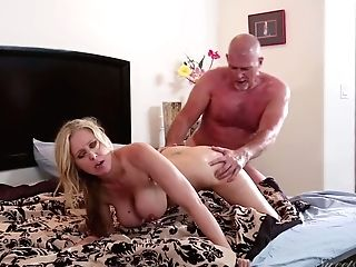 Mind Fellating Orgy With Sexually Charged Platinum-blonde Mummy...